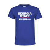 Youth Royal Blue T Shirt-Basketball