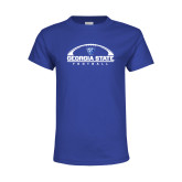 Youth Royal T Shirt-Georgia State Football Flat