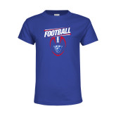 Youth Royal T Shirt-Panther Head w/ Football