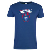 Ladies Royal T Shirt-Panther Head w/ Football