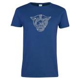 Ladies Royal T Shirt-Panther Head Rhinestones