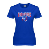 Ladies Royal T Shirt-2016 Sun Belt Conference Champions Womens Tennis