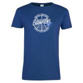 Ladies Royal T Shirt-Sun Belt Mens Basketball Champions