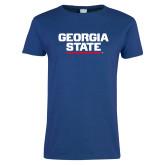 Ladies Royal T Shirt-Georgia State Wordmark