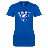 Next Level Ladies SoftStyle Junior Fitted Royal Tee-Panther Head