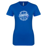 Next Level Ladies SoftStyle Junior Fitted Royal Tee-Sun Belt Mens Basketball Champions