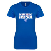 Next Level Ladies SoftStyle Junior Fitted Royal Tee-Sun Belt Mens Tournament Champions