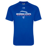 Under Armour Royal Tech Tee-Georgia State Baseball Stacked