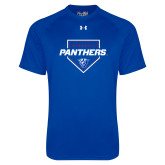 Under Armour Royal Tech Tee-Panthers Baseball w/ Plate