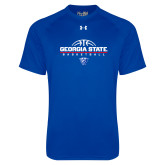 Under Armour Royal Tech Tee-Georgia State Basketball Stacked
