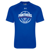 Under Armour Royal Tech Tee-Panthers Basketball Arched w/ Ball