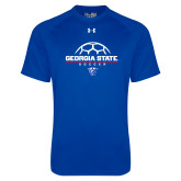Under Armour Royal Tech Tee-Georgia State Soccer Stacked