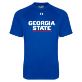 Under Armour Royal Tech Tee-Georgia State Wordmark