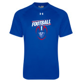 Under Armour Royal Tech Tee-Panther Head w/ Football