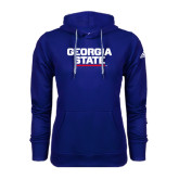 Adidas Climawarm Royal Team Issue Hoodie-Georgia State Wordmark