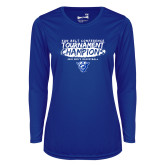 Ladies Syntrel Performance Royal Longsleeve Shirt-2018 Tournament Champions