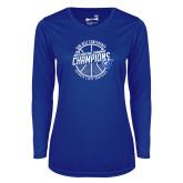 Ladies Syntrel Performance Royal Longsleeve Shirt-Sun Belt Mens Basketball Champions