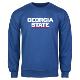 Royal Fleece Crew-Georgia State Wordmark