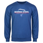 Royal Fleece Crew-Georgia State Softball Stacked