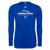 Under Armour Royal Long Sleeve Tech Tee-Georgia State Baseball Stacked