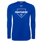 Under Armour Royal Long Sleeve Tech Tee-Panthers Baseball w/ Plate