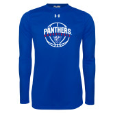 Under Armour Royal Long Sleeve Tech Tee-Panthers Basketball Arched w/ Ball