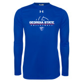 Under Armour Royal Long Sleeve Tech Tee-Georgia State Volleyball Stacked