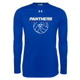 Under Armour Royal Long Sleeve Tech Tee-Panthers Volleyball w/ Ball