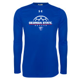 Under Armour Royal Long Sleeve Tech Tee-Georgia State Soccer Stacked