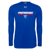 Under Armour Royal Long Sleeve Tech Tee-#PantherFamily