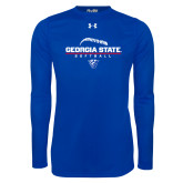 Under Armour Royal Long Sleeve Tech Tee-Georgia State Softball Stacked
