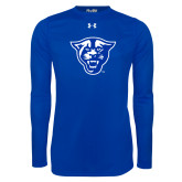 Under Armour Royal Long Sleeve Tech Tee-Panther Head
