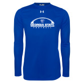 Under Armour Royal Long Sleeve Tech Tee-Georgia State Football Flat