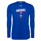 Under Armour Royal Long Sleeve Tech Tee-Panther Head w/ Football