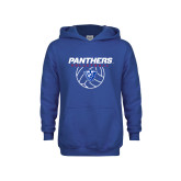 Youth Royal Fleece Hoodie-Panthers Volleyball w/ Ball