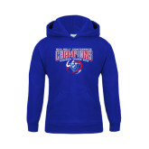 Youth Royal Fleece Hoodie-2016 Sun Belt Conference Champions Womens Tennis