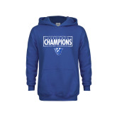 Youth Royal Fleece Hoodie-2018 Mens Basketball Tournament Champions