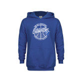 Youth Royal Fleece Hoodie-Sun Belt Mens Basketball Champions
