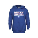 Youth Royal Fleece Hoodie-Sun Belt Mens Tournament Champions