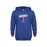 Youth Royal Fleece Hoodie-Panther Head w/ Football