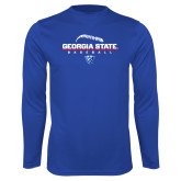Syntrel Performance Royal Longsleeve Shirt-Georgia State Baseball Stacked