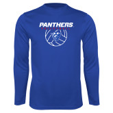 Performance Royal Longsleeve Shirt-Panthers Volleyball w/ Ball