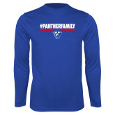 Performance Royal Longsleeve Shirt-#PantherFamily