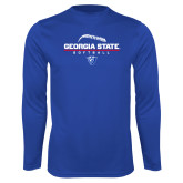 Performance Royal Longsleeve Shirt-Georgia State Softball Stacked