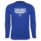 Performance Royal Longsleeve Shirt-2018 Tournament Champions