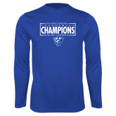 Performance Royal Longsleeve Shirt-2018 Mens Basketball Tournament Champions