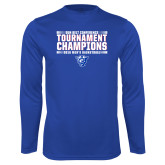 Performance Royal Longsleeve Shirt-Sun Belt Mens Tournament Champions