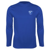 Syntrel Performance Royal Longsleeve Shirt-Panther Head