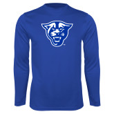 Performance Royal Longsleeve Shirt-Panther Head