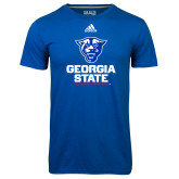 Adidas Climalite Royal Ultimate Performance Tee-Official Logo